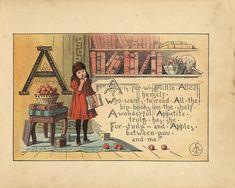 1884 -Alice's alphabet - A Johnson, Margaret ( Illustrator)