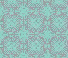 daisy doll aqua fabric by nascustomwallcoverings on Spoonflower - custom fabric