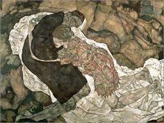 1915 La muchacha y la muerte (Egon y Wally) En 1917 Wally muere en el frente donde se había incorporado a la Cruz Roja.