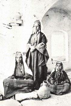 Bethlehem - بيت لحم : Group Of Women From Bethlehem, 1869