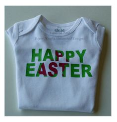 Personalized/Customized My First Easter Baby Girl Onesie #easterbunny #Easter #hep #craftshout #myfirsteaster #craftshow