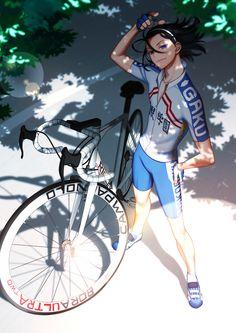 """ark-ray: """" だいぶ前に描いた東堂さんに自転車足した。ロードバイクって細かい所どうなってんのかよく分からん上にこの東堂さんモデルのリドレー多分色々間違ってる。弱ペダのファンアートが分母に比べ少ないのは自転車のせいやね、単体でも難しいのに人体とのバランスで難易度2倍でドン """""""