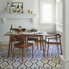 The Lena Mid-Century Dining Table comes in two sizes, each with a small footprint, making this dining room table perfect for a small apartment or home.