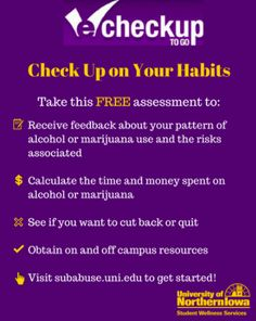 Check up on your habits with eCheckup To Go!