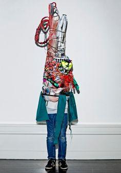 Skolekunstprojekt med kunstneren Karoline H. Larsen - Creatures