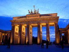 A symbol of Berlin, de Brandenburg Gate welcomes pedestrians to de tree-lined Unter den Linden._ Germany