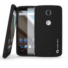 Nexus 6 Case, Ghostek Blitz black Nexus 6 Case W/ Attached Nexus 6 Screen Protector - Lifetime Warranty - Rubberized Fitted Smooth Non-Slip Grip