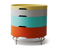 IKEA PS 2014 Storage table - multicolor - IKEA I REALLY want this new IKEA storage table - this would be the perfect nightstand for me! Ikea Ps 2014, Ikea Storage, Table Storage, Yarn Storage, Console Ikea, Design Ikea, Ikea Small Spaces, Ikea New, My New Room