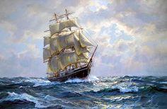 Charles Vickery. Ship JOSEPH CONRAD. J. Russell Jinishian Gallery, Inc.