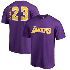 58d4d51ae2f LeBron James Los Angeles Lakers Fanatics Branded Big   Tall Sidesweep Name    Number T-Shirt – Purple