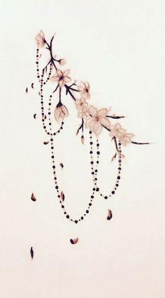 flower Tattoo Cherry blossom tattoo edit - # cherry blossom A Platinum Cufflink Set Ca Flower Tattoo Back, Small Flower Tattoos, Flower Tattoo Designs, Back Tattoo, Small Tattoos, Flower Ankle Tattoos, Tattoo On Ankle, Ankle Tattoo Mandala, Side Boob Tattoo