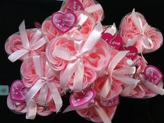 12 Boxes of 3 Pink Scented Rose Soaps, Perfect Wedding Favors ! by Fiona., http://www.amazon.com/dp/B007ZEJTXS/ref=cm_sw_r_pi_dp_k0Z7qb1GY6G0F $18.00