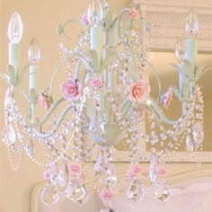 shabby chic lighting | Shabby chic chandelier