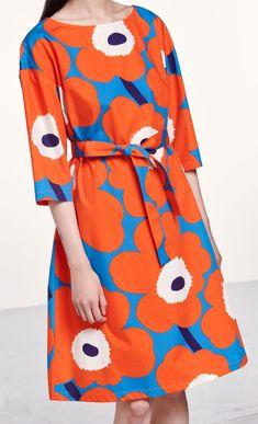 Tarika Unikko dress - red e5223d8a10