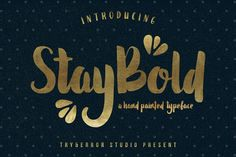 Awesome easy to cut bold font that's available for commercial use. The perfect hand painted font