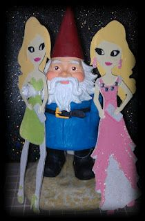 Paper Doll Teen Scene girls caught dancing with the Travelocity Gnome