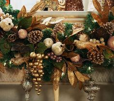 Sure, you love to decorate for the holidays. But, you like to keep your decor on the elegant side. Festive without being kitschy, this piece overflows with beaded fruit that has a golden sheen, as well as lifelike leaves and golden pinecones. QVC.com