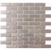 3/4 x 2 1/2 inch Subway Stainless Steel Tile