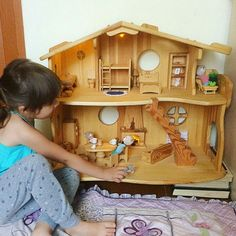 Wooden Dollhouse, Dollhouse Furniture, Woodworking Projects Plans, Teds Woodworking, Woodworking Classes, Toy House, Popular Toys, Kids Wood, Wood Patterns