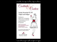 Cocktails and Couture 2013 hosted by Eastview Mall on November 10. #WalkUpAdvertising #marketing