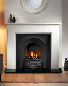 Most up-to-date No Cost white Fireplace Inserts Tips Wanting to add a cozy hint to your dwelling? Contemplate acquiring a fireplace that can warm a person standing. Black Fireplace Surround, Cast Iron Fireplace Insert, White Fireplace, Fireplace Inserts, Living Room With Fireplace, Fireplace Surrounds, My Living Room, Fireplace Modern, Fake Fireplace