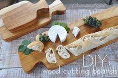 DIY Wood Cutting Boards - Clean your board with hot water and sanitize with white vinegar, then every few months condition your board with food safe mineral oil.  Your cutting board should continue to look great for years to come.