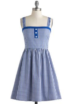 Entirely too cute and a must-have for summer picnics in the park.  Blueberry Picking Dress, #ModCloth