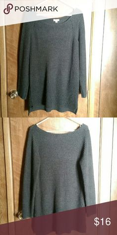 Gray and black star sweater