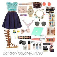 """""""Go follow her"""" by greenleefountain ❤ liked on Polyvore featuring M.N.G, Kendra Scott, Samantha Wills, Michael Kors, claire's, Humble Chic, Ray-Ban, H&M, LORAC and Lancôme"""