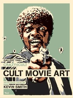 Billy Perkins' Pulp Fiction Art cover for the Crazy4Cult: Cult Movie Art book.  www.wired.com