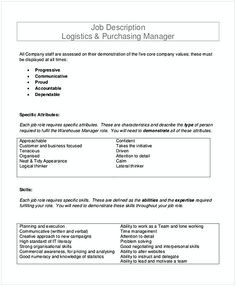 Find Here The Logistics Job Description Of Different Poplar