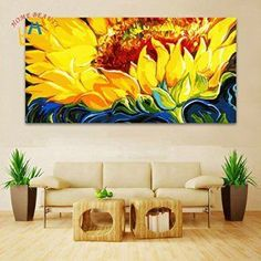 large coloring by numbers wall picture for living room decorative canvas oil painting by numbers sunflowers drawing Large Canvas Art, Wall Canvas, Wall Décor, Home Wall Art, Wall Art Decor, Wall Decorations, Sunflower Wall Decor, Sunflower Drawing, Sunflower Oil