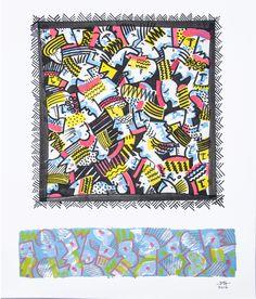 Jean Michel GARACHON, Étude 11 acrylique sur papier
