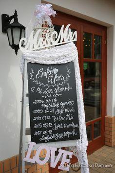 krétatábla, chalkboard, wedding, decor, esküvő, dekoráció, mi love sztorink, our love story sign