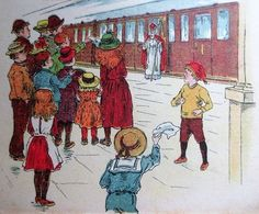 Sinterklaas. Picture from an old, rare book, with text in old Dutch. Beautifully illustrated (in chromolithography?).