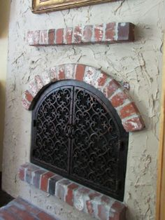 Beautiful Arched Fireplace Doors with custom made design