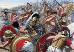 The Battle of the Allia BC) was a battle of the first Gallic invasion of Rome. The battle was fought near the Allia river: the defeat of the Roman army opened the route for the Gauls to sack Rome. Ancient Rome, Ancient Greece, Ancient History, Greco Persian Wars, Alexandre Le Grand, Punic Wars, Rome Antique, Roman Warriors, Greek Warrior