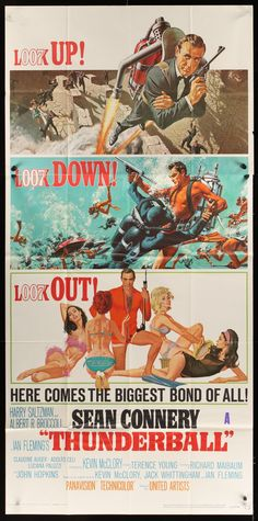 Thunderball (1965) GB United Artists Action. D: Terence Young. Sean Connery, Aldolfo Celi, Bernard Lee, Roland Culver, Guy Doleman. 18/02/2009