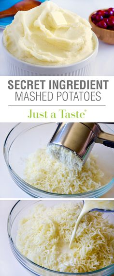 The Best Secret Ingredient Mashed Potatoes recipe via justataste.com | A surprising ingredient makes these extra creamy and perfect for Thanksgiving or any night of the week!