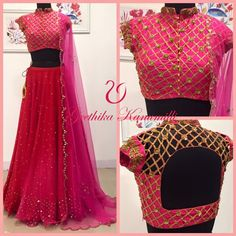 Blouse of my choice Lehenga Designs, Saree Blouse Designs, Blouse Styles, Indian Wedding Outfits, Indian Outfits, Indian Clothes, Ethnic Fashion, Indian Fashion, Women's Fashion