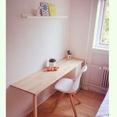 DIY skrivebord i egetræ