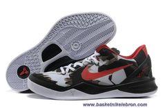 wholesale dealer c1c54 9d085 Chaud Blanc Noir Rouge Style Nike Zoom Kobe 8 VIII 555035-101 Red Style,