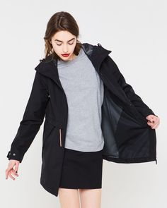 Hunter Women's Original 3 Layer Long Anorak: Negro - S Athleisure, Raincoat, Layers, The Originals, Womens Fashion, Jackets, Stuff To Buy, Clothes, Black