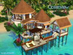 Check out this lot in The Sims 4 Gallery! Lotes The Sims 4, Sims Four, Sims 4 House Plans, Sims 4 House Building, Sims 4 Family, Sims 4 House Design, Casas The Sims 4, Hawaii Homes, Sims 4 Build