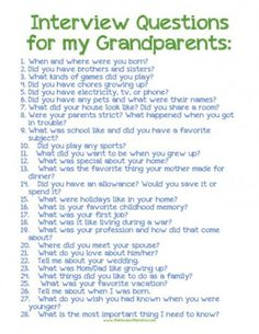 your children know the life stories of their grandparents? Let this printable and post encourage you to ask.Do your children know the life stories of their grandparents? Let this printable and post encourage you to ask. Personal History, History Projects, Family Genealogy, Lds Genealogy, Genealogy Forms, Interview Questions, 100 Questions, Life Questions, Journal Questions