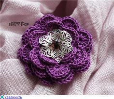 PICTURE ONLY - Crochetpedia: 2D Crochet Flowers Free Patterns
