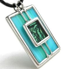 Stained glass with van gogh glass pendant