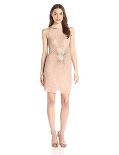 Adrianna Papell Women's Halter Fully Beaded Cocktail Dress, Blush, 4 Adrianna Papell http://www.amazon.com/dp/B017RZ8UA2/ref=cm_sw_r_pi_dp_GGm9wb02Y0NRR