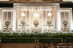 By lightworks jakarta wedding stage decorations, marriage decoration, recep Reception Stage Decor, Wedding Reception Backdrop, Wedding Stage Decorations, Backdrop Decorations, Backdrops, Wedding Venues, Wedding Backdrop Design, Wedding Stage Design, Jakarta