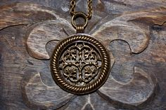 TUUKKALA bronze pendant. The original design for this Kalevala Jewelry Classic Collection long pendant dates back to 1150-1250 A.D.!